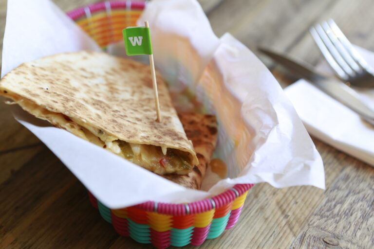 Roasted chilli quesadilla